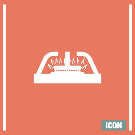 gas cooker: Gas stove vector icon. Stove sign. Cooker symbol