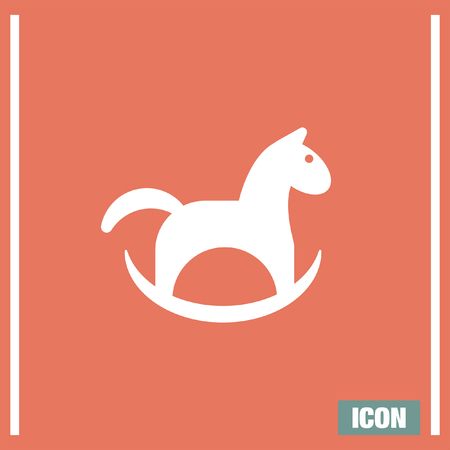 plaything: Horse toy vector icon. Playground sign. Children plaything symbol Illustration