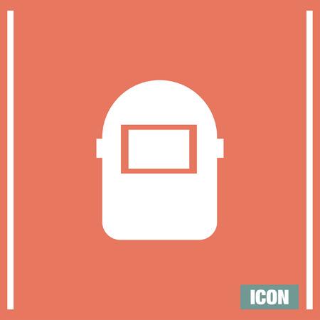 weld: Welding mask vector icon. Construction safety equipment sign. Welder symbol