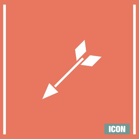 bow arrow: Arco de flecha del vector del icono. S�mbolo del equipo de caza deportiva. signo arma Archer.
