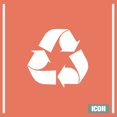 enviroment: Recycle vector icon. Garbage reuse sign. Enviroment ecology symbol Illustration