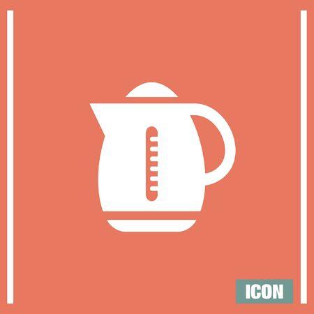 boiler: Water boiler vector icon. Kettle sign. Hot beverage symbol