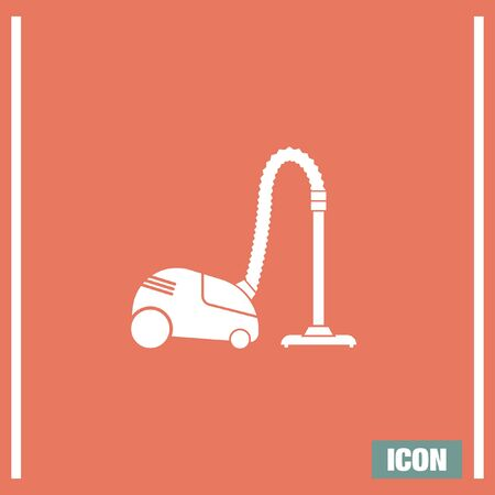 cleanup: Vacuum cleaner vector icon.  Household cleanup symbol Illustration