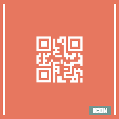 qrcode: QR code vector icon. Qrcode scane sign. Computer business symbol