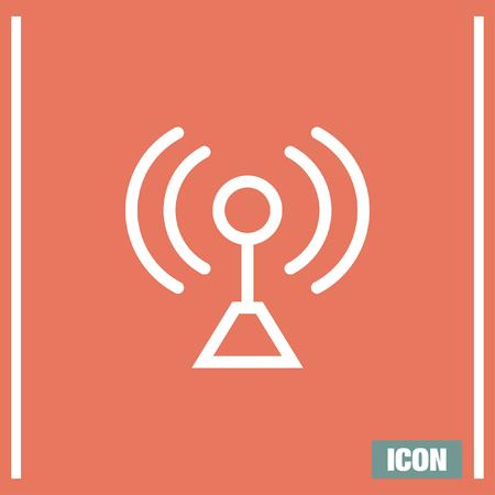 Signalstärke Zeichen Linie Vektor-Symbol. Wi-Fi-Signal-Vektor-Symbol ...