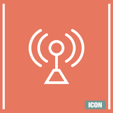 network strenght: Signal strengt sign line vector icon. Wi Fi signal vector icon. Wireless connection symbol.