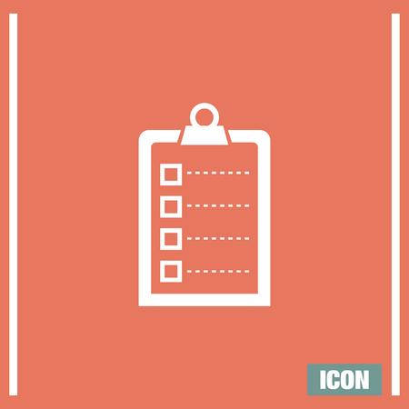 check icon: Check list vector icon. Clip board sign.