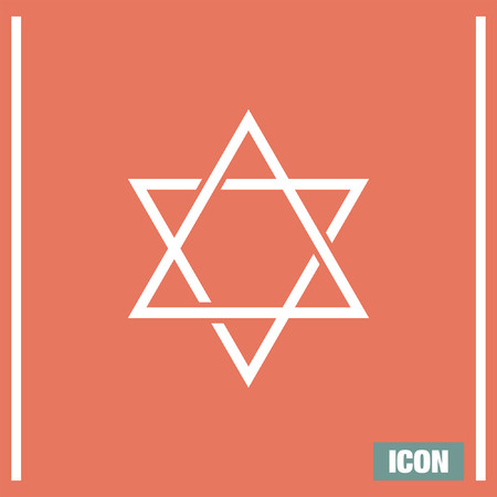 israel jerusalem: Star of David sign vector icon Illustration