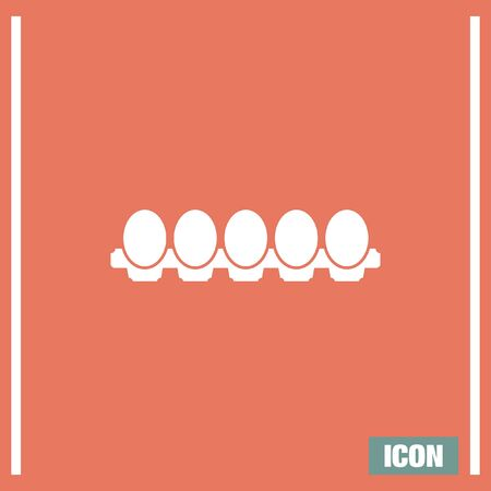 protein: Egg vector icon. Protein sign. Yolk symbol