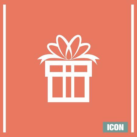 suprise: Gift box vector icon. Present sign. Suprise symbol