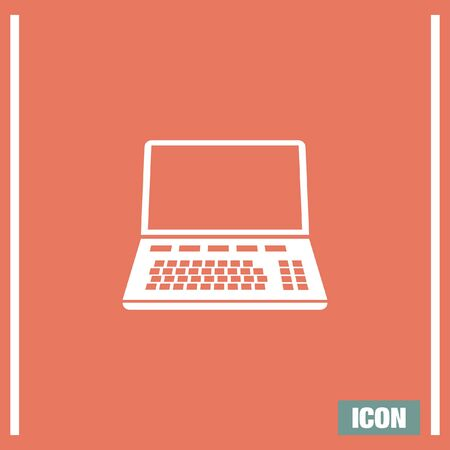 lap top: Lap top vector icon. Coumouter sign. Personal computer symbol Illustration