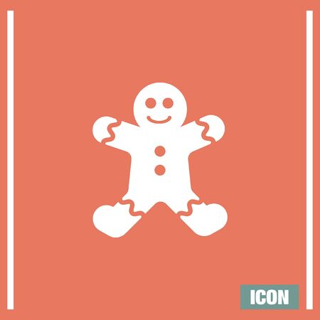 gingerbread cake: Gingerbread vector icon. Cookie sign. Pastry symbol