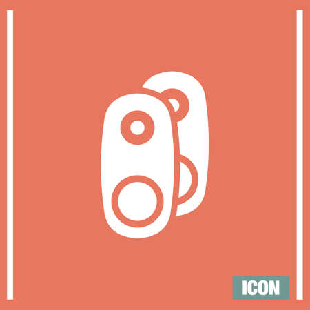 Audio Speakers vector icon. Audio sign. UI control Sound icon. Music symbol.