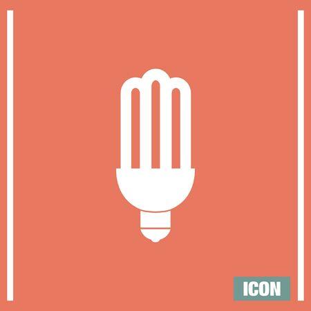 power saving lamp: Fluorescent light vector icon. Bulb sign. Lantern symbol