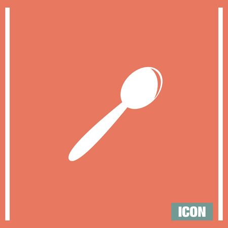 silverware: Spoon vector icon. Teaspoon sign. Kitchen silverware symbol