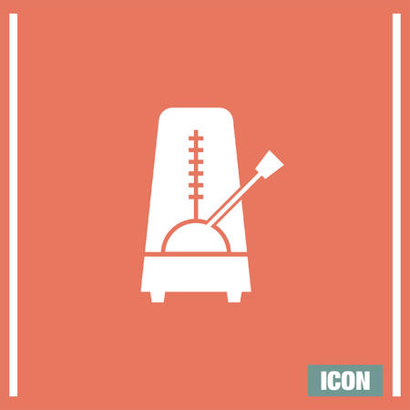 rhythm: Metronome vector icon. Rhythm machine sign. Tempometer symbol