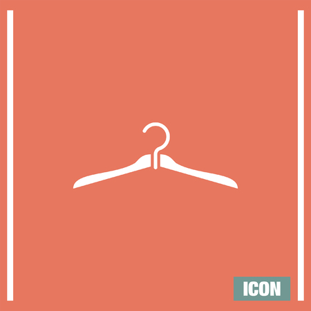 Hanger vector icon. Cabinet sign. Closet symbol