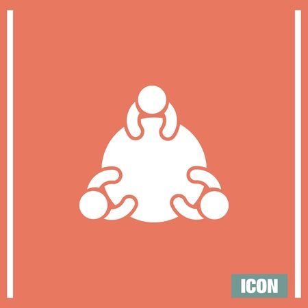 discussion group: Discussion Group vector icon. Social meeting. Job interview symbol Illustration