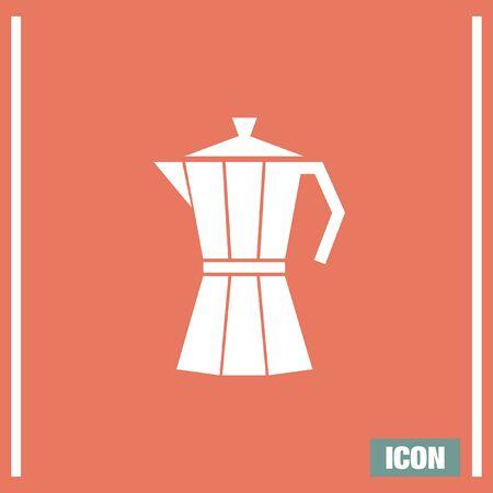 sign maker: Coffee Maker vector icon. Vaccum flask symbol. Espresso sign.