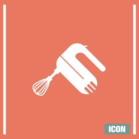 batidora: Cocina mezclador icono del vector. signo de la batidora. Cocina símbolo de la herramienta equipo Vectores