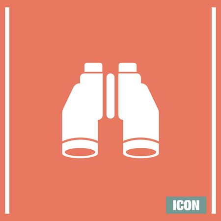 discovery: Binoculars vector icon. Discovery or search sign. Vision symbol.