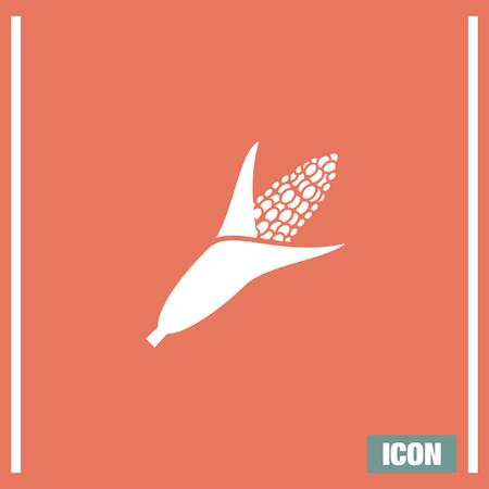 maize cultivation: Corn vector icon. Food sign. Popcorn symbol