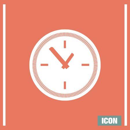 Clock vector icon. Time shower sign. Ticker symbol. Illustration