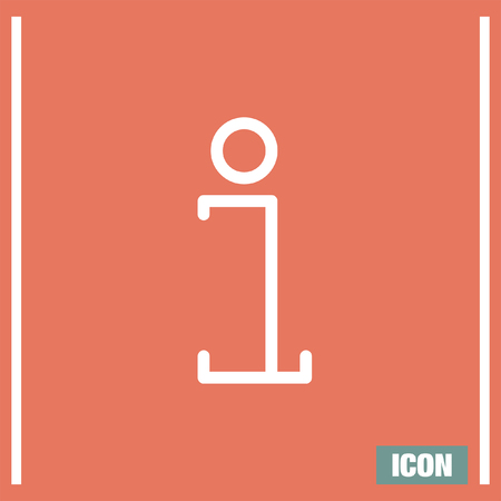 informing: Info sign line vector icon. Information symbol vector icon. Support sign icon.