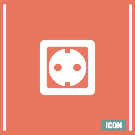 wall plug: Power socket vector icon. Electric outolet sign. Power plug symbol