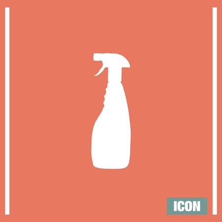 chemical cleaning: Household cleaning bottle vector icon. Disinfection sprey sign. Liquid detergent symbol Illustration