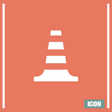 symbol traffic: Traffic cone vector icon. Traffic safety sign. Construction warning alerty symbol