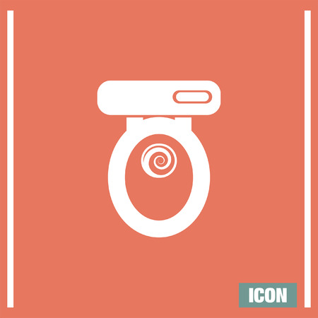 Toilet Seat Vector Icon. Bathroom Sign. Water Closet Symbol Royalty Free  Cliparts, Vectors, And Stock Illustration. Image 59991280.