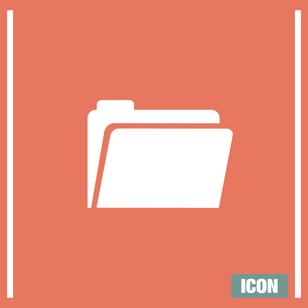 web directories: Folder sign vector icon. Accounting audit sign. Archive symbol. Illustration