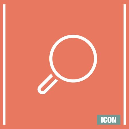 magnification icon: Magnifying glass sign line vector icon. Search vector icon. Zoom symbol. Find vector icon symbol.