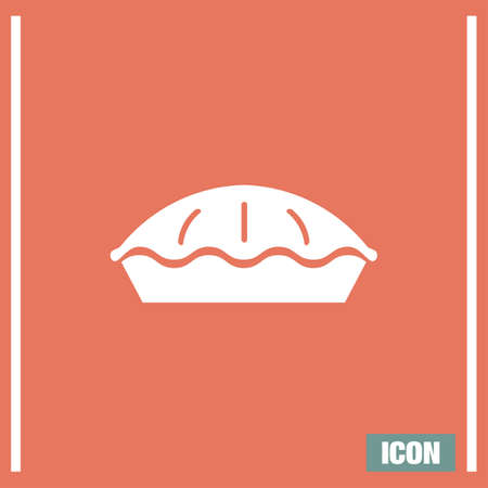homemade: Pie vector icon. Traditional apple pastry sign. Homemade symbol
