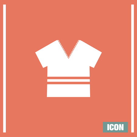 v neck: T Shirt vector icon. Designer apparel sign. V neck symbol