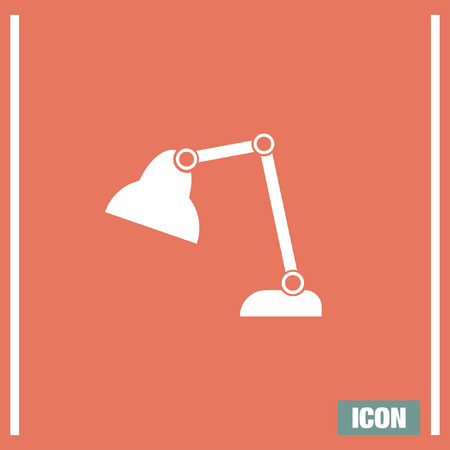 pattern: Desk Lamp vector icon. Table light sign. Lantern symbol