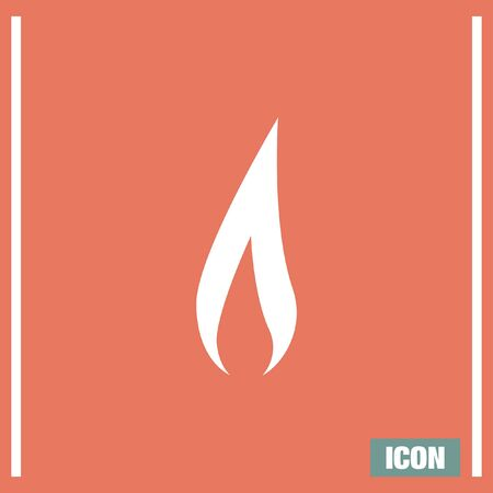 fireballs: Flame vector icon. Fire symbol. Flamable sign Illustration