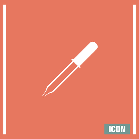 pipet: Pipette vector icon. Eyedropper sign. Pipet and droped symbol