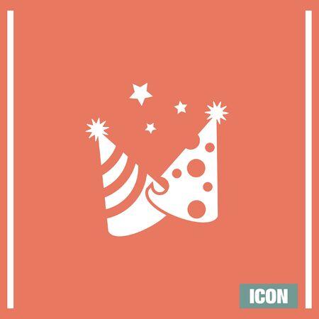 suprise: Party hat vector icon. Birthday suprise sign. Celebration cap symbol Illustration