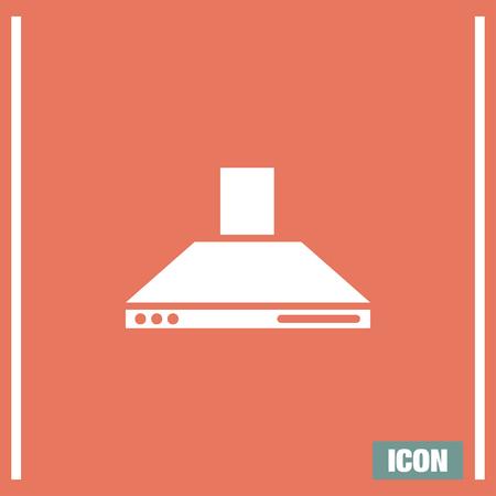 extractor hood: Kitchen hood vector icon. Cookin equipment sing. Air extractor symbol