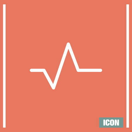beat: Pulse sign line vector icon. Heart beat sign vector icon