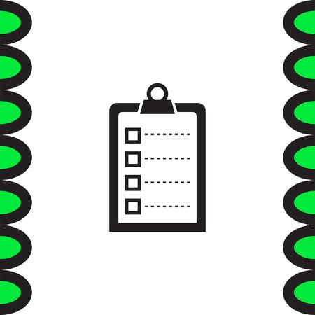 clip board: Check list vector icon. Clip board sign.