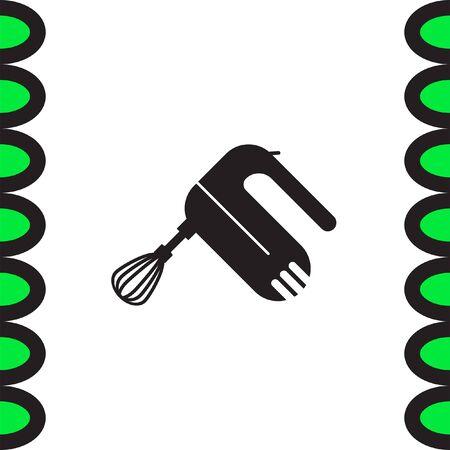 batidora: Cocina mezclador icono del vector. signo de la batidora. Cocina s�mbolo de la herramienta equipo Vectores