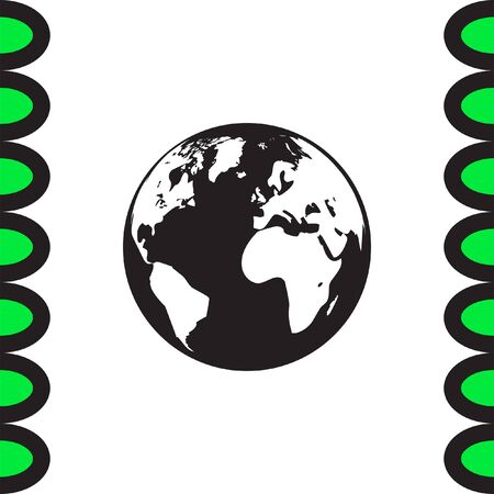 madre tierra: Icono de la tierra del globo. signo de la madre tierra. símbolo planeta Vectores