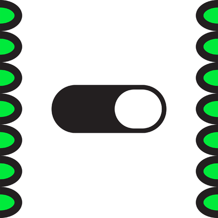 power switch: Toggle ON OFF vector icon. Power switch sign. Control button symbol