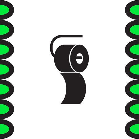 wipe: Toilet paper vector icon. Restroom sign. Bathroom symbol Illustration