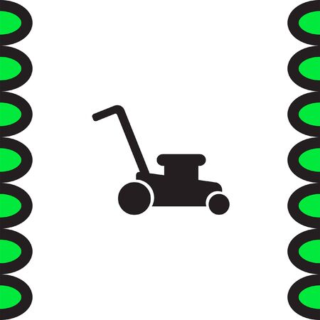 lawnmower: Mower vector icon. Lawnmower sign. Landscaping symbol
