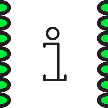 inform: Info sign line vector icon. Information symbol vector icon. Support sign icon.