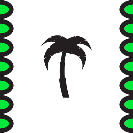 Palm Tree Icon Vacation Sign Coconut Symbol Royalty Free Cliparts